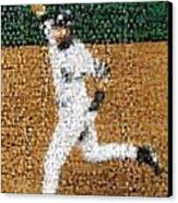 Jeter Walk-off Mosaic Canvas Print