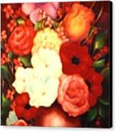 Jewel Flowers Canvas Print