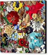 Jeweled Garden Canvas Print by Donna Blackhall