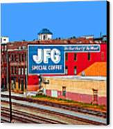Jfg Coffee Canvas Print by Steven  Michael