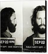 Jim Morrison Mugshot Canvas Print by Bill Cannon