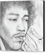 Jimi Hendrix Artwork Canvas Print by Roly Orihuela