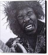 Jimi Hendrix Drawing Canvas Print