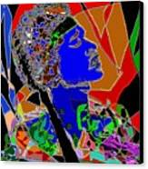 Jimi In Heaven Colorful Canvas Print by Navo Art