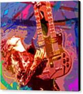 Jimmy Page Stairway To Heaven Canvas Print by David Lloyd Glover