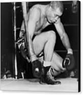 Joe Louis Last Professional Boxing Canvas Print by Everett