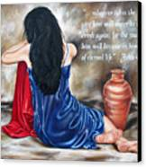 John 4 Verse 14 Canvas Print by Ilse Kleyn