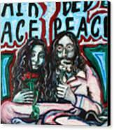 John And Yoko Canvas Print by Hannah Curran
