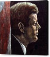 John F. Kennedy Canvas Print by Norman F Jackson