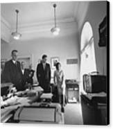 John Kennedy And Others Watching Canvas Print