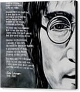 John Lennon - Imagine Canvas Print by Eddie Lim