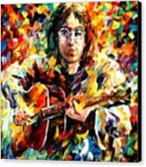 John Lennon Canvas Print by Leonid Afremov