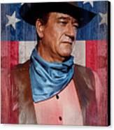 John Wayne Americas Cowboy Canvas Print