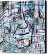 Johnny Cash Canvas Print by Jera Sky