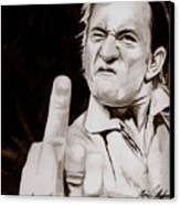 Johnny Cash Canvas Print by Michael Mestas