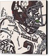 Johnny Manziel 5 Canvas Print by Jeremiah Colley