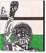 Johnny Manziel 7 Canvas Print