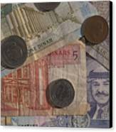 Jordan Currency Canvas Print