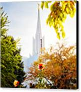 Jordan River Temple Rose Canvas Print by La Rae  Roberts