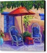 Josefina's Courtyard Canvas Print by Candy Mayer