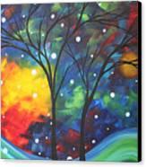 Joy By Madart Canvas Print by Megan Duncanson