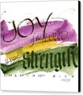 Joy Strength II Canvas Print
