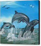 Joyful Trio Canvas Print by Darlene Green