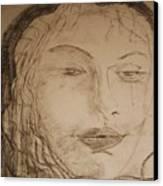 Julia Weeps Canvas Print