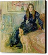 Julie Manet And Her Greyhound Laerte Canvas Print