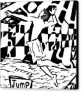 Jump Maze Canvas Print
