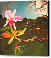 Jungle Orchid Canvas Print by Alanna Hug-McAnnally