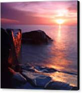 Just Another Superior Sunrise. Canvas Print by Jamie Rabold