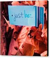 Just Be Leaves... Canvas Print by John Parry