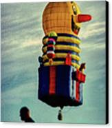 Just Passing Through  Hot Air Balloon Canvas Print by Bob Orsillo