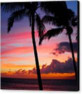 Kaanapali Sunset  Kaanapali  Maui Hawaii Canvas Print