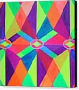 Kaleidoscope Wise Canvas Print by Ann Sokolovich