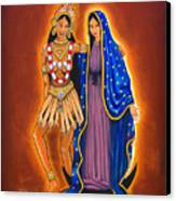 Kali And The Virgin Canvas Print