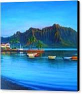 Kaneohe Bay - Early Morning Glass Canvas Print by Joseph   Ruff