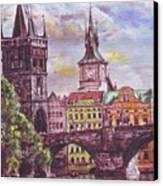 Karluv Most A Novotneho Lavka  Canvas Print by Gordana Dokic Segedin