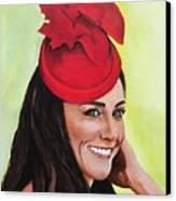 Katherine Duchess Of Cambridge Canvas Print by Betty-Anne McDonald