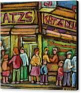 Katzs Delicatessan New York Canvas Print