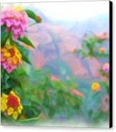 Kauai Canyon Hawaii Flowers Canvas Print
