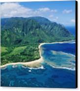 Kauai, Tunnels Beach Canvas Print