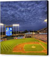 Kauffman Stadium Twilight Canvas Print