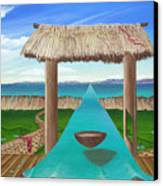 Kava Flow Canvas Print by Sharon Ebert