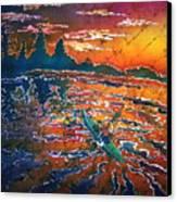 Kayak Serenity  Canvas Print