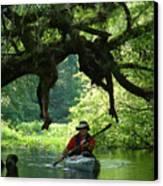 Kayaking In Dismal Swamp Canvas Print