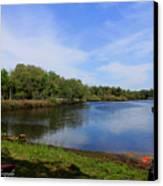 Kayaking The Cotee River Canvas Print