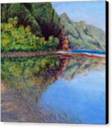 Ke'e Morning Canvas Print by Kenneth Grzesik
