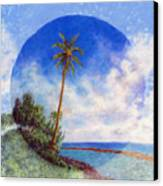 Ke'e Palm Canvas Print by Kenneth Grzesik